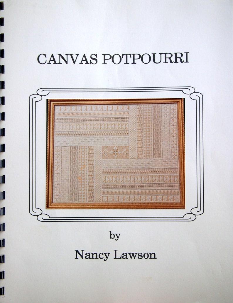 Canvas Potpourri By Nancy Lawson Vintage Spiral-Bound Needlepoint Pattern Booklet 1991