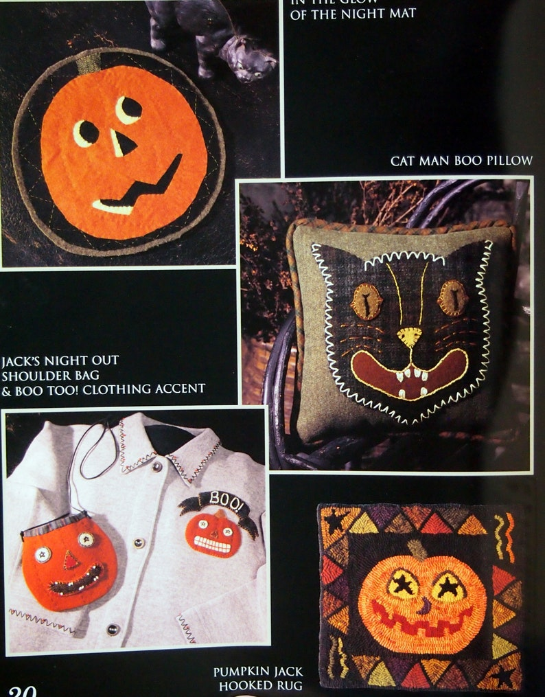 Wool Applique And Needlework Pattern Booklet Undated Spooky Threads By Need/'l Love Paperback Quilting