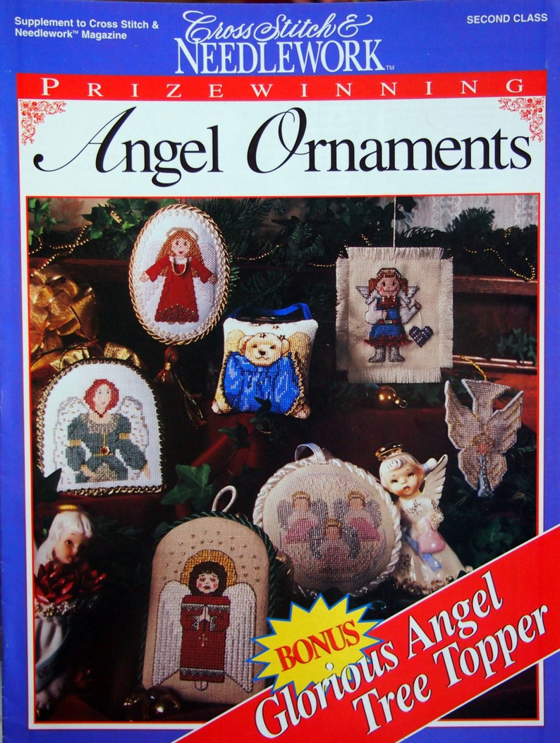 Prizewinning Angel Ornaments Plus Tree Topper Supplement To image 0