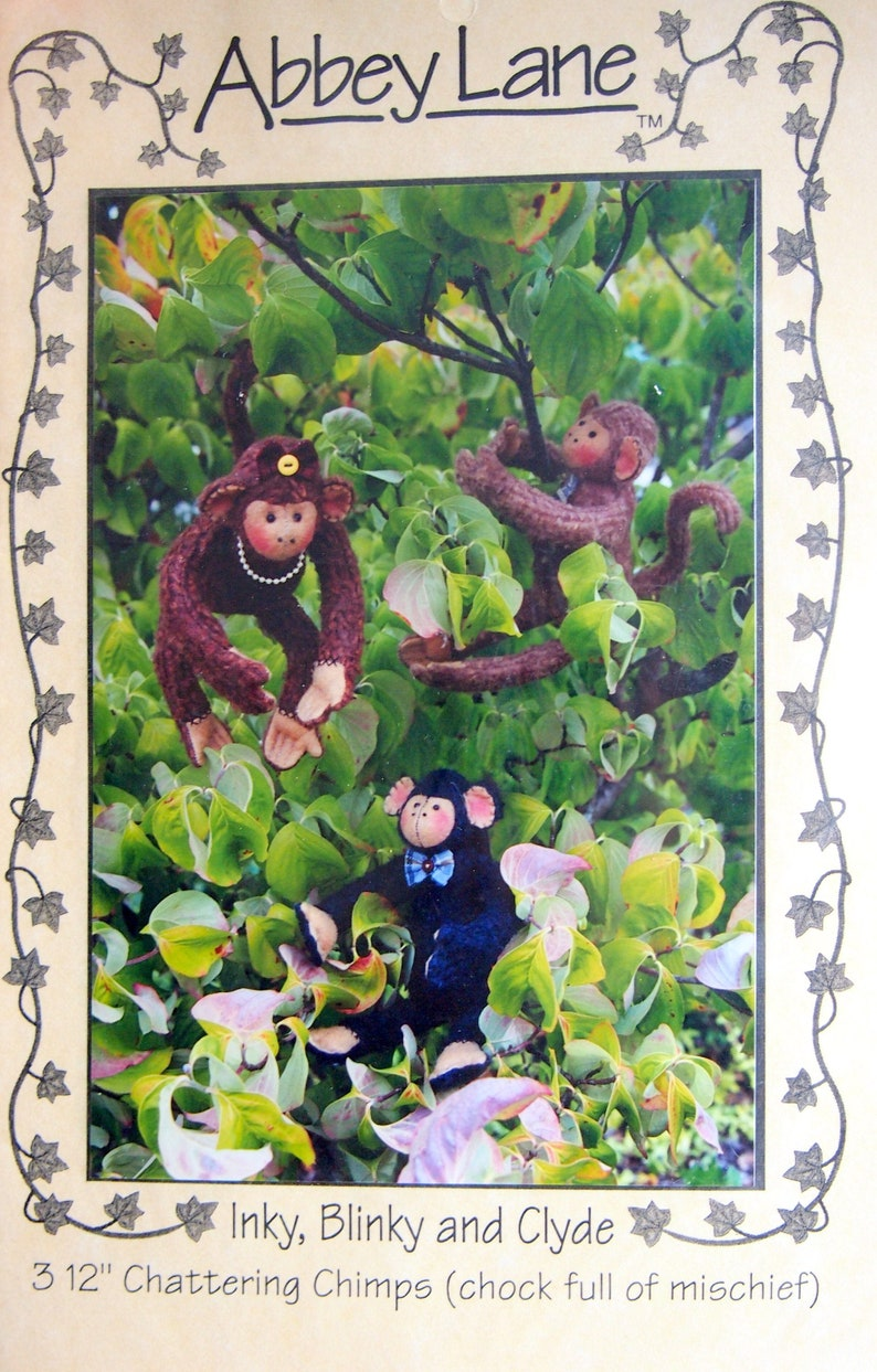 Inky Blinky And Clyde  Three 12 Chattering Chimps image 0