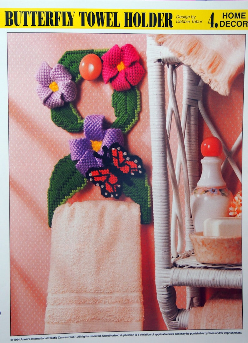 Butterfly Towel Holder By Debbie Tabor And Annie's Attic image 0