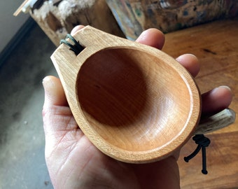 Noggin, scoop, whiskey cup, canoe cup, small ladle, hand carved wooden spoon