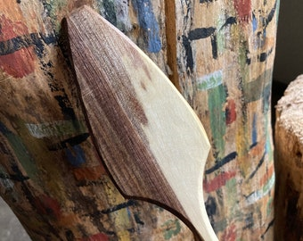 """12"""" wooden spoon, spatula, pizza server serving spoon, hand carved by the large apprentice"""