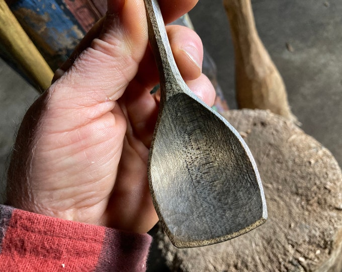 """Featured listing image: 8"""" eating spoon, cooking spoon, serving spoon, hand carved wooden spoon"""