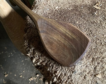 """12"""" serving spoon, cooking spoon, hand carved wooden spoon"""