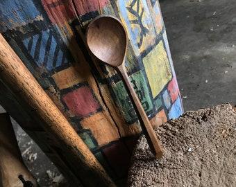 "6"" eating spoon, teas spoon, wooden spoon, serving spoon, hand carved wooden spoon"