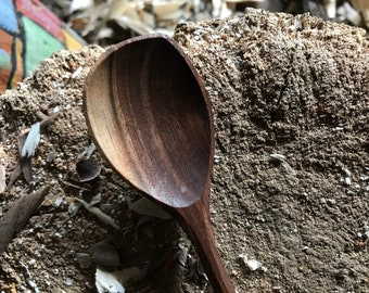 """7"""" tea spoon, table spoon, wooden spoon, serving spoon, hand carved wooden spoon"""