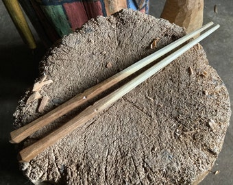 "10"" hand carved wooden chopsticks"