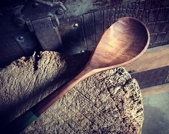 """11"""" milk painted cooking spoon, serving spoon, wooden spoon"""