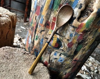 """9"""" bushcraft spoon, wooden spoon, cooking spoon, soup spoon, all in one spoon, hand carved wooden spoon"""