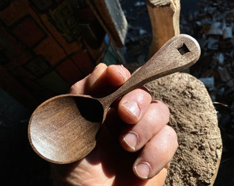 """5"""" eating spoon, wooden spoon, serving spoon, hand carved wooden spoon"""