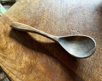 """7"""" eating spoon, table spoon, wooden spoon, serving spoon, hand carved wooden spoon"""