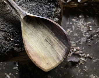 """11"""" wooden spoon, cooking spoon, serving spoon, hand carved wooden spoon"""