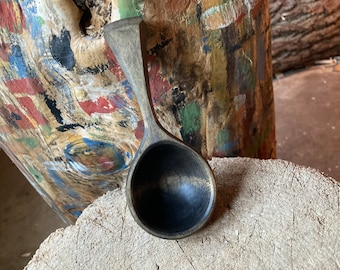 Coffee scoop, 2tbs scoop, small ladle, hand carved wooden spoon