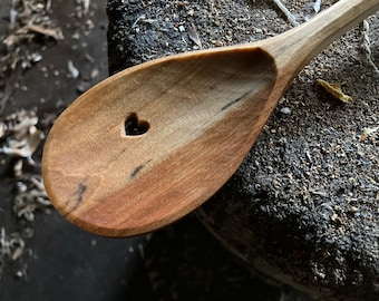 """12"""" wooden spoon, cooking spoon, serving spoon, holiday spoon, hand carved wooden spoon"""