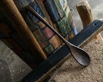 "8"" tea spoon, dessert spoon, wooden spoon, serving spoon, hand carved wooden spoon"