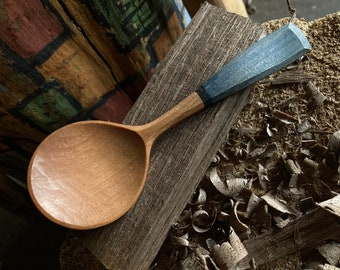 """6"""" eating spoon, table spoon, wooden spoon, serving spoon, hand carved wooden spoon"""