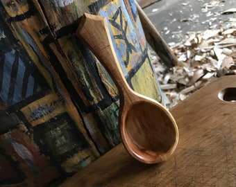 Coffee scoop, 2tbs, hand carved scoop