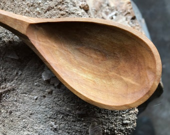 """11"""" cooking spoon, serving spoon, wooden spoon, hand carved wooden spoon"""
