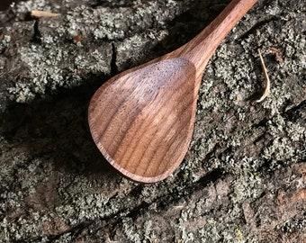 "7"" tea spoon, dessert spoon, wooden spoon, serving spoon, hand carved wooden spoon"