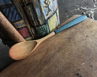 """12"""" milk painted cooking spoon, serving spoon, wooden spoon"""
