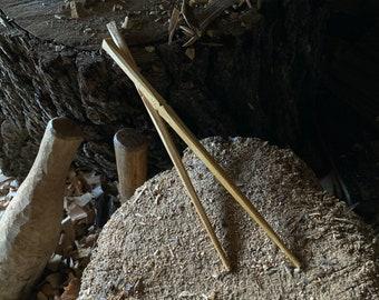 "10"" hand carved wooden chopsticks"