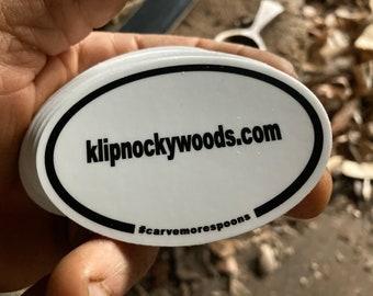 klipnockywoods.com #carvemorespoons sticker