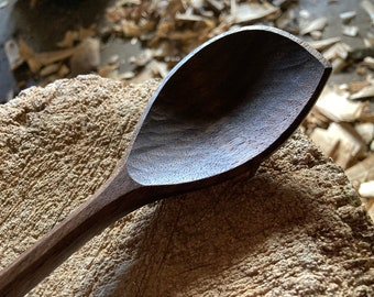 """12"""" wooden spoon, cooking spoon, serving spoon, hand carved wooden spoon"""