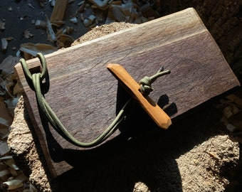Small cutting board, cheese board, hand hewn board