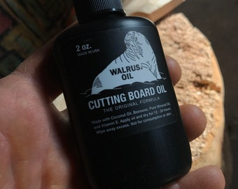 Walrus Oil cutting board and wooden utensil oil.