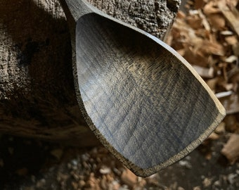 Flat edge cooking spoons