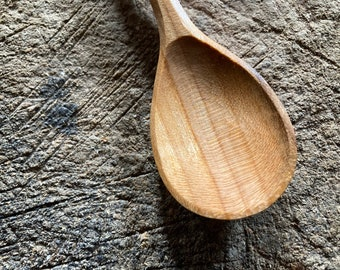 """6"""" baby spoon, toddler spoon, spice spoon, wooden spoon, hand carved wooden spoon"""