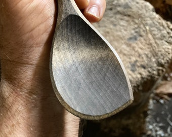 """9"""" wooden spoon, cooking spoon, serving spoon, hand carved wooden spoon"""