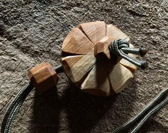Toggled lanyard for a noggin, kuksa, wooden cup, scoop or water bottle