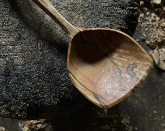 """10"""" serving spoon, wooden spoon, hand carved wooden spoon"""