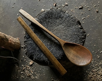 """14"""" cooking spoon, serving spoon, wooden spoon, hand carved wooden spoon"""