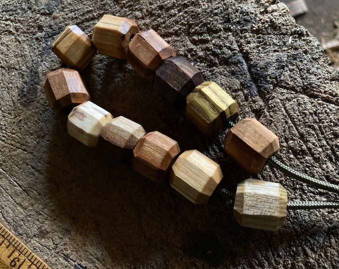 Featured listing image: Hardwood beads, for a noggin, kuksa, wooden cup, scoop, water bottle or jewelry projects