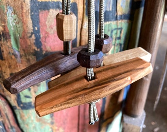 Toggled lanyards for a noggin, kuksa, wooden cup, scoop or water bottle