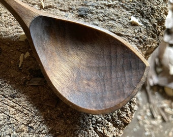 """9"""" wooden spoon, cooking spoon, soup spoon, all in one spoon, hand carved wooden spoon"""