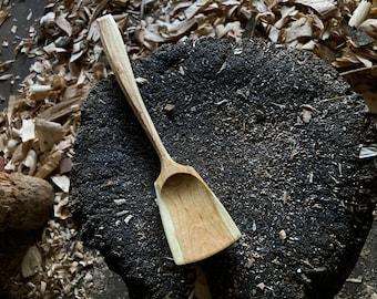 "9"" wooden spoon, light cooking spoon, wok style spoon"