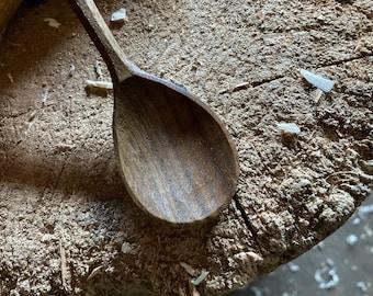 "7"" tea spoon, dessert spoon, serving spoon, hand carved wooden spoon"