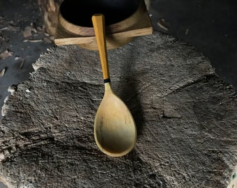 """6"""" hand carved wooden spoon, eating spoon, soup spoon, serving spoon"""