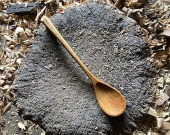 "8"" tea spoon, dessert spoon, serving spoon, hand carved wooden spoon"