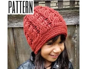 Crochet PATTERN | Cabled Hat Crochet Pattern | Calliope Beanie Pattern | Crochet Cabled Beanie Pattern | PDF Digital Download