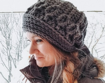 Queen of Wands Bulky Winter Hat | Hand Crocheted Slouchy Beanie | Chunky Women's Winter Beanie | Made to Order Choose Your Color
