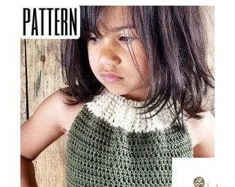 Crochet PATTERN | Girl's Laskeside Halter Top Crochet Pattern | Size 2-10 | PDF Digital Download | Child's Summer Crochet Pattern