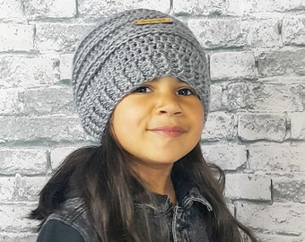 Beyoutiful Slouchy Beanie | Kids Slouch Beanie | Slouchy Hat | Beyoutiful Grey Beanie | Girls Beyoutiful Beanie | Ready to Ship