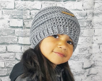 Slouchy Ribbed Winter Beanie | Made to Order in Color and Size of Choice | Multiple Color Options | Fall Slouch Hat for Kids Women Men
