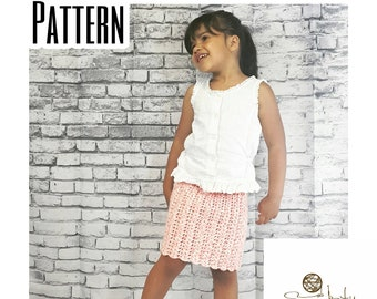 Crochet PATTERN | Pencil Skirt | Baby Skirt Pattern | Girl's Skirt Pattern | Crochet Pencil Skirt Pattern | Knee Length Skirt Pattern | PDF