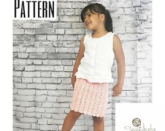 Crochet PATTERN | Pencil Skirt | Baby Skirt Pattern | Girl's Skirt Pattern | Crochet Pencil Skirt Pattern | Knee Length Skirt Pattern | PDF